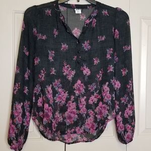 LILY WHITE SHEER FLORAL BLOUSE
